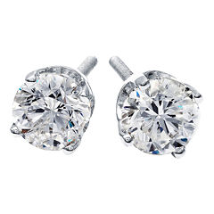 1/2 CT. T.W. Round Diamond Stud Earrings