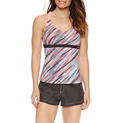 ZeroXposur® Diagonal Stripe Tankini