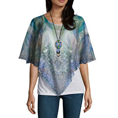 One World ApparelElbow Sleeve Layered Top