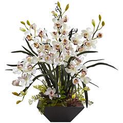 Cymbidum Orchid Silk Floral Arrangement