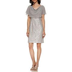 Jessica Howard Cape Sheath Dress