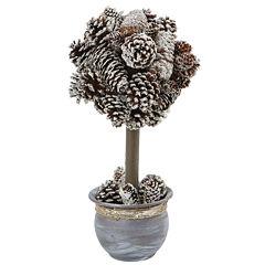 Snowy Pinecone Floral Arrangement