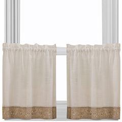 Oakwood Rod-Pocket Window Tiers