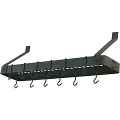 Old Dutch International® Graphite Bookshelf Pot Rack + 12 Hooks