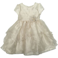 Nanette Baby Short Sleeve Party Dress - Preschool Girls