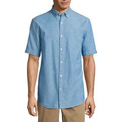 St. John's Bay Havana Neppy Chambray Shirt