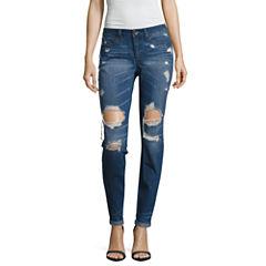 Rewash Destructed Classic Fit Jeans-Juniors