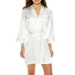 Ambrielle 3/4 Sleeve Satin Robe