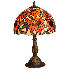 Amora Lighting AM1084TL12 Tiffany Style SunflowerTable Lamp