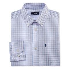 IZOD Long Sleeve Woven Dress Shirt -8-20