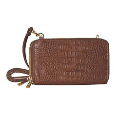 Adrienne Landau Double Zip Crossbody Bag
