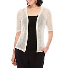 Perceptions Short Sleeve Fishnet Shrug