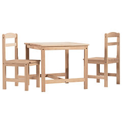 3-Pc. Juvenile Table Set 3-pc. Kids Table + Chairs-Natural