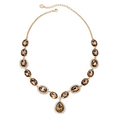 Monet® Brown and Gold-Tone Y Necklace