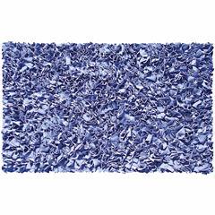 Rug Market Shaggy Raggy Rug-Blue