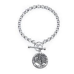 Inspired Moments™ Sterling Silver Family Tree Bracelet