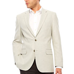 Stafford Classic Fit Basketweave Pattern Sport Coat