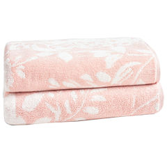 Loft By Loftex Floral Block Jacquard 2-Pc. Bath Towel Set