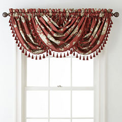 Home Expressions™ Isabelli Faux Silk Rod-Pocket Waterfall Valance