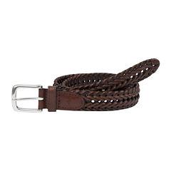 Dockers® Leather Braided Belt