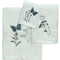 Bacova Indigo Wildflowers Bath Towel Collection