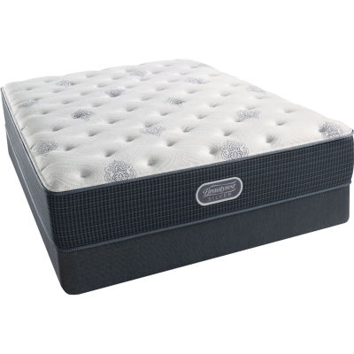 simmons beautyrest silver snowhaven luxury firm mattress box spring - Mattress And Box Spring