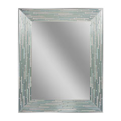 Reeded Sea Glass Wall Mirror