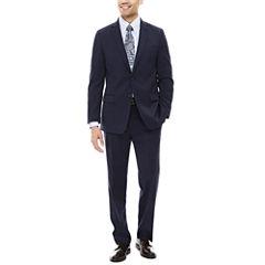 Claiborne® Stretch Blue Neat Classic-Fit Suit Separates
