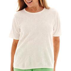 Alfred Dunner® Ocean Drive Short-Sleeve Sweater Shell