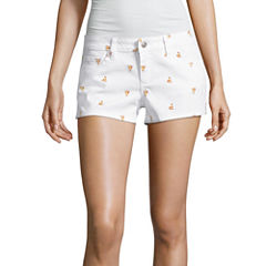 Sound Girl Pizza Print Shortie Shorts Juniors