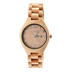 Earth Wood Sapwood Unisex Brown Bracelet Watch-Ethew1601