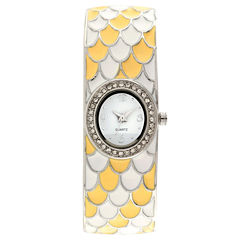 Womens Multicolor Bangle Watch-Jcp1218