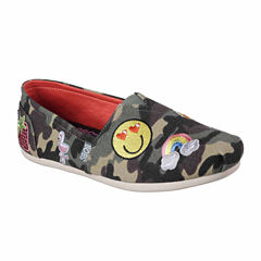 Skechers Bobs Plush Perfect Patch Womens Slip-On Shoes
