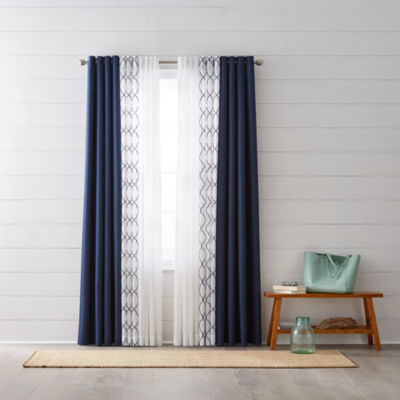 jcpenney home quinn u0026 bayview sheer grommettop curtain panels - Sheer Curtain Panels