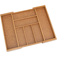 Lipper Expandable Flatware Organizer with Cork Lining