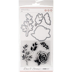 Rose Dies and Stamps Kit
