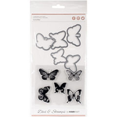 Butterflies Dies and Stamps Kit
