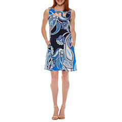 Alyx Sleeveless Paisley Shift Dress