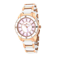 Oceanaut Charm Womens Pink Mother-of-Pearl and Black Ceramic Bracelet Watch
