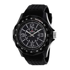 Seapro Dynamite Mens Black Dial Black Silicone Strap Watch