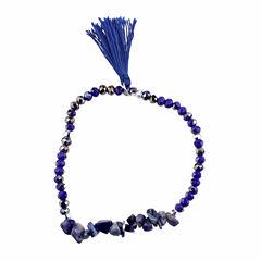 Bridge Jewelry Womens Blue Stretch Bracelet