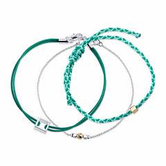 Bridge Jewelry Womens 3-pc. Silver Over Brass Bracelet Set