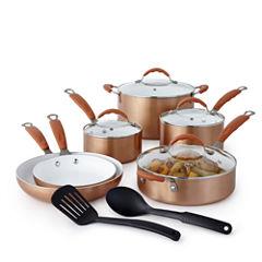 Cooks Copper 12-pc. Ceramic Cookware Set