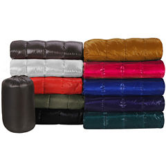 PUFF Down Alternative Indoor Outdoor Water Resistant Blanket with Extra Strong Nylon Cover