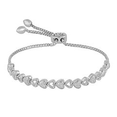 Rhythm and Muse 1/10 CT. T.W. Diamond Sterling Silver Heart Bracelet