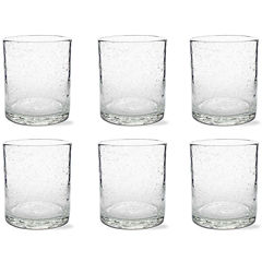 Tag Bubble Glass Set of 6 Double Old Fashion Glasses