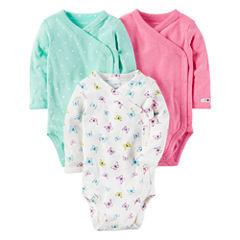 Carter's Little Baby Basics Girl 3-Pack Side Snap Bodysuits