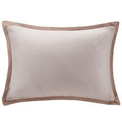 Madison Park Linen Jute Trim Oblong Feather Pillow