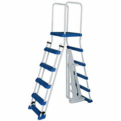 Blue Wave 52-in A-Frame Ladder w/ Safety Barrier and Removable Steps for Above Ground Pools