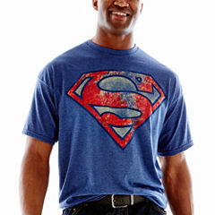 Superman Distressed Shield Tee-Big & Tall